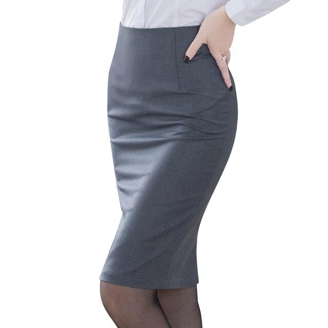 Элегантная женская юбка-карандаш с высокой талией 1