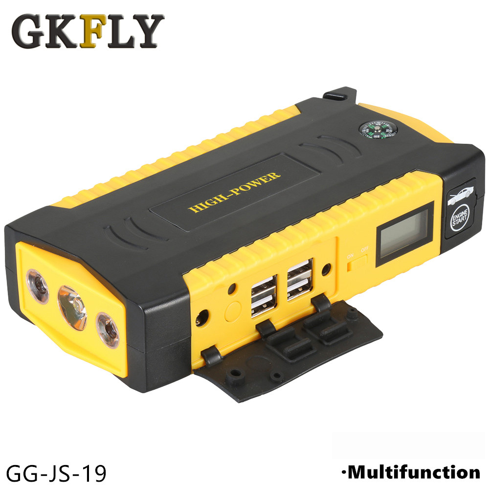 GKFLY High Capacity Car Jumper Starter Power Bank 600A 12V Portable Car Starter Starting Device Booster Starter With Cables