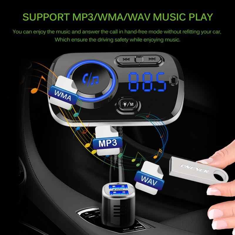 Gorący bezprzewodowy zestaw samochodowy Bluetooth z nadajnikiem FM zestaw odtwarzacza MP3 LCD dwa porty USB ładowarka odtwarzacz FM głośnomówiący Modulator samochodowy accesori