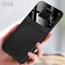 For Redmi Note 9S Case Luxury PU Leather Back Cover Funda Case for Xiaomi Redmi Note 8 Pro Note 7 Note 8T Note 9 Pro Max cheap DTFQ Fitted Case Leather Pattern Redmi Note 7 For multiple models Plain Dirt-resistant Anti-knock Soft TPU + Hard PC Plexiglass Lens Protector