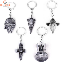 Hot Star Wars Movie Jewelry Spaceship Sign Keychain Darth Vader Pins High quality metal Pendant Keyring for Man Gift Jewelry famshin high quality top 2018 star wars keyring light black darth vader pendant led keychain for man gift free shipping