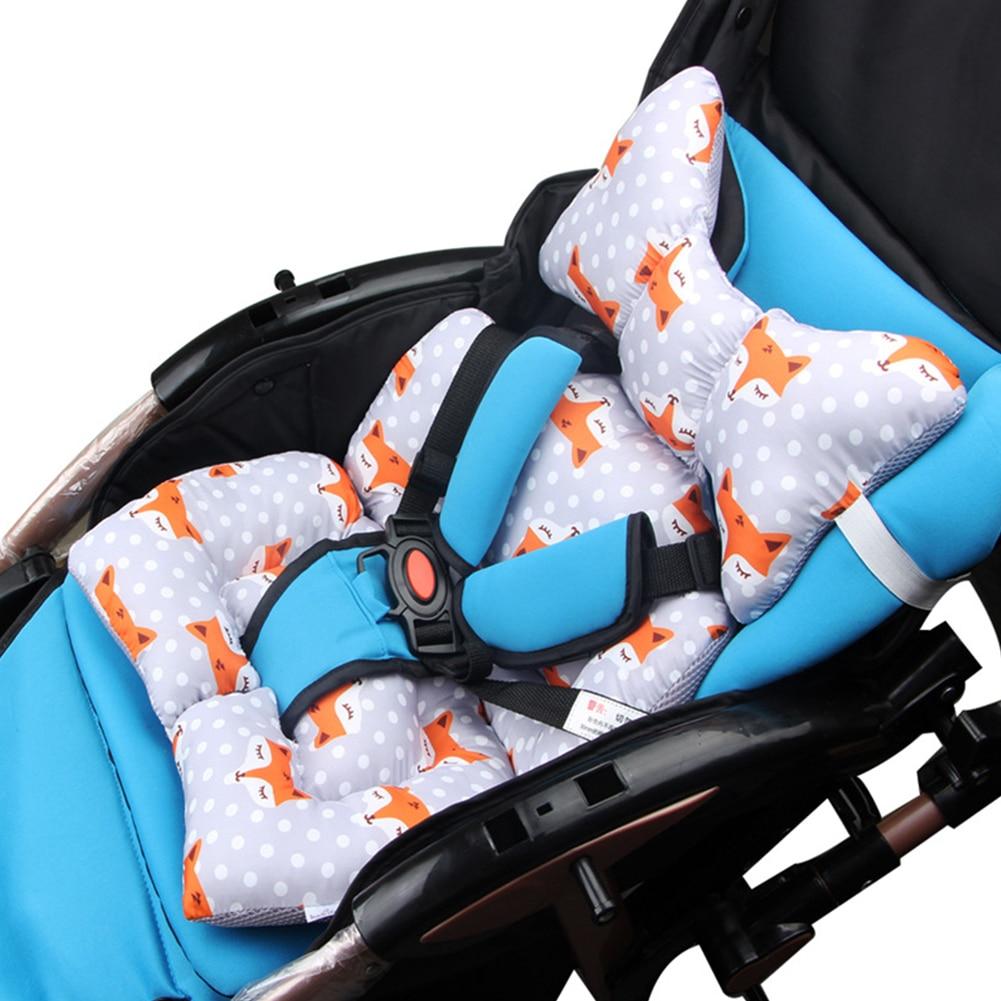 Cotton Thick Pillow Case Baby Seat Cushion Pad Stroller Car Warm Chair Cartoon Animal Mattress