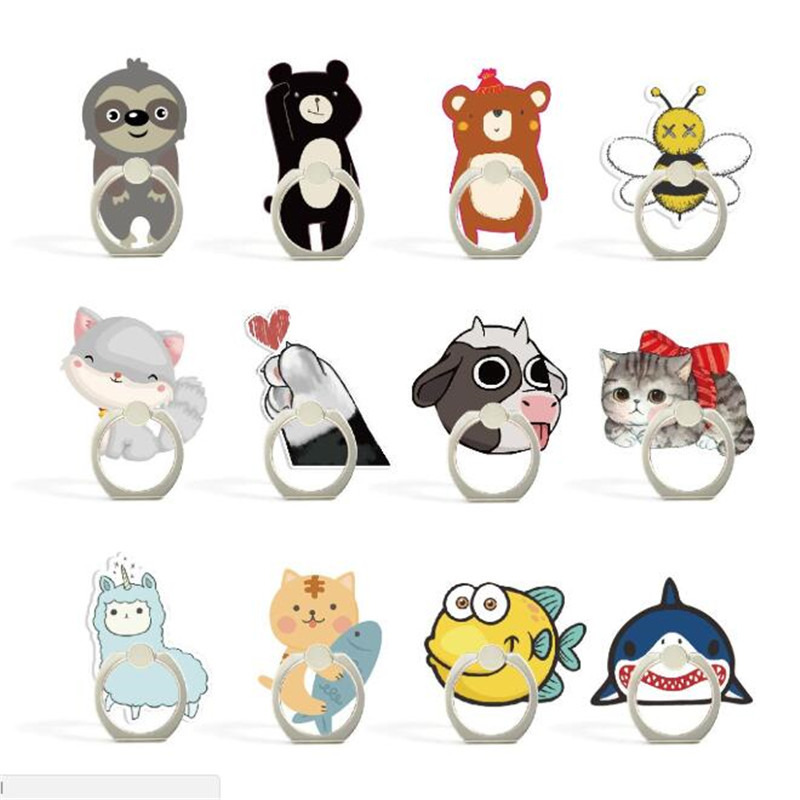 Mobile Phone Holder Stand Bear Bee Shark Finger Ring Smartphone Stand Holder For IPhone Acrylic All Smart Phone