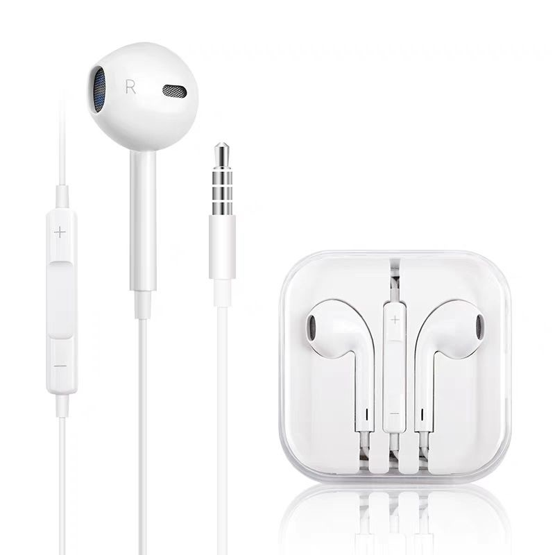 Music Earphones 3.5mm Jack Stereo Sound In-Ear Earphone For IPhone 6 6S Plus SE 5 5S IPad Wired Control Earbuds With Microphone