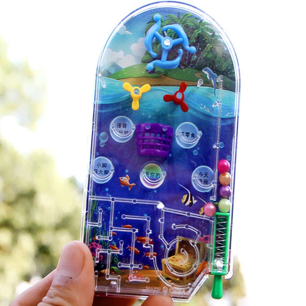 Pinball Toy Gift Educational Targets Funny Kids Intelligence Shooting Balls Games Machine Mini Cartoon Plaything Random Color