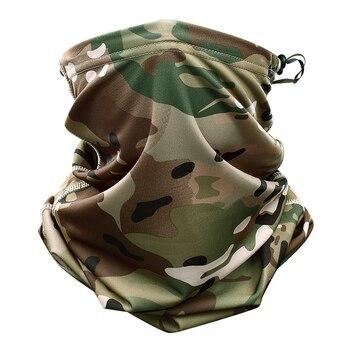 Multicam Scarf Camouflage Bandana Tactical Neck Gaiter Cover Tube Face Scarves Sun Head Military Army Headband Beanie Wristband