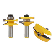 3pcs 1/2 Handle Raised Panel Door Router Bit Milling Cutter Power Hand Tool 1 2 inch handle milling cutters round over rail and stile with cove panel raiser 3 bit router bit set for wood cutter 3pcs