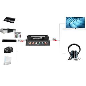 Image 2 - 5 RCA Ypbpr komponent na HDMI konwerter kabel komponent wideo na hdmi konwerter wideo audio adapter na ps2 wii i więcej