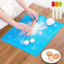 купить Non-Stick Silicone Baking Mat Dough Rolling Mat Heat Resistant Pad Pastry Board Silicone Pastry Mat with Measurement онлайн