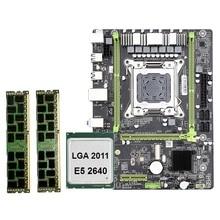 X79 M2 LGA2011 Motherboard Combo Set mit E5-2640 CPU 2X8GB 16GB DDR3 RAM 2-Ch 1600Mhz ECC REG NVME M.2 SSD Slot