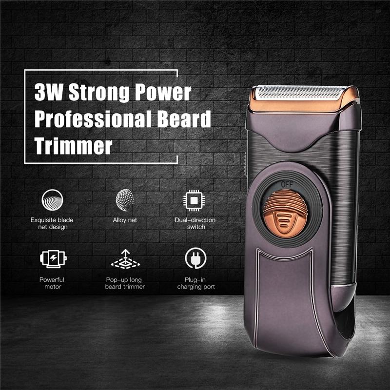 Taşınabilir elektrikli saç düzeltici erkek tıraş makinesi şarj edilebilir jilet pistonlu saç kesme bıçağı tıraş makinesi seyahat için 45