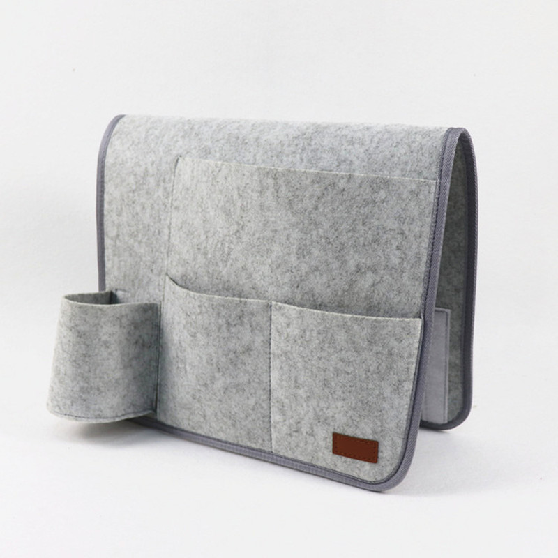 Yooap New felt bedside storage bag household items large capacity student cloth box