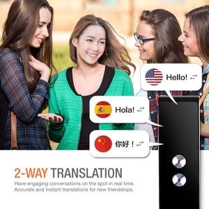 Image 4 - Taşınabilir akıllı ses tercüman gerçek zamanlı çoklu dil konuşma interaktif çevirmen 3 in 1 ses metin BT çevirmen
