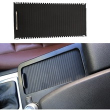 Car Inner Indoor Centre Console Roller Blind Cover Water Cup Holder Storage For Mercedes C Calss W204 S204 E Class W212 S212