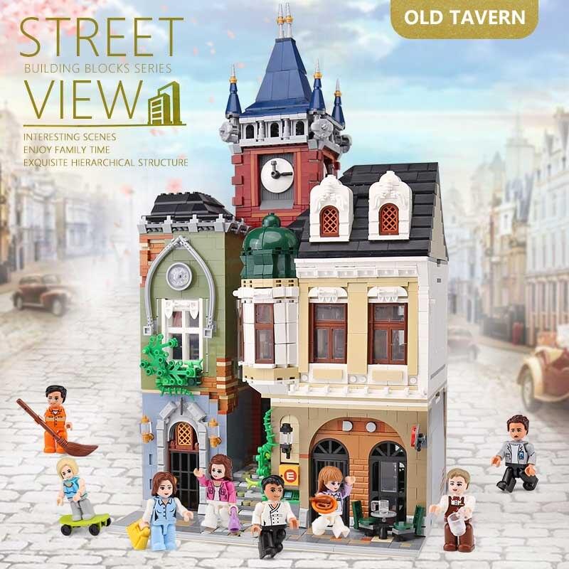 cidade rua edificio brinquedos lepining moc 01