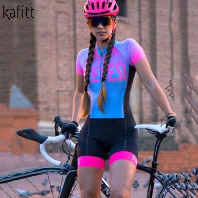 Kafitt senhoras bicicleta manga curta camisa de ciclismo terno camisa montanha bicicleta estrada mountain bike equitação macacão roupas 3