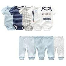 2020 roupas de bebê verão recém nascido macacão manga curta bebê macacão calças 100% algodão unissex menino meninas conjuntos