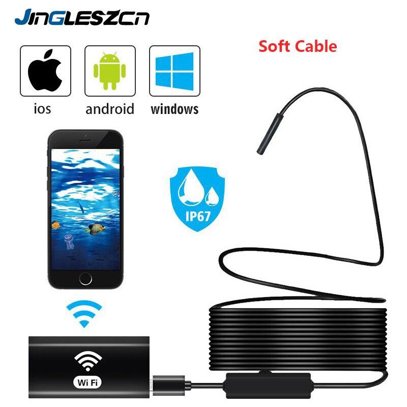 Cámara endoscópica Wifi IP67, boroscopio WiFi a prueba de agua 720P, HD con cámara de inspección serpiente para Android, Iphone, iOS y PC