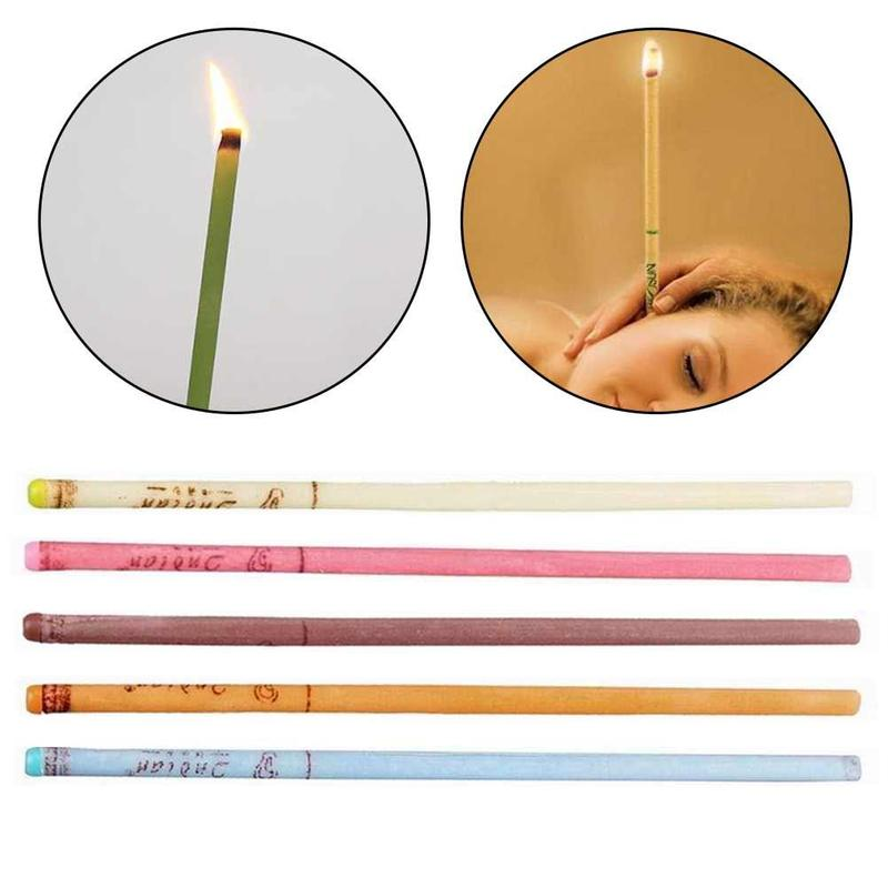 10pcs/set Ear Cleaner Wax Removal Ear Candles Treatment Ear Care Hollow Cone Stress Relief Peace Of Mind Healthy Care Product