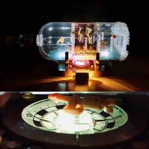 Image 3 - Lepinblocks корабль со светодиодсветильник кой Лодка в бутылке 21313 техника идеи Lepining Playmobil строительные блоки кирпичи детские игрушки для детей