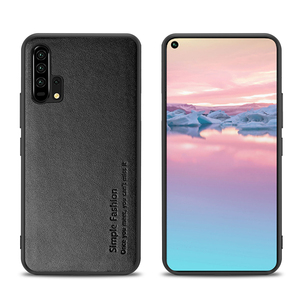 Image 5 - Simple Fashion Case For Honor 20 Pro Cases Thin Genuine Leather & Silicone Shockproof Back Case Cover For Huawei Honor 20/ Pro