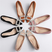 New 2020 Womens Shoes Pearls 6.5cm Square High Heels Solid Faux Suede Flock String Bead Pumps Wedding Elegant Woman Pumps