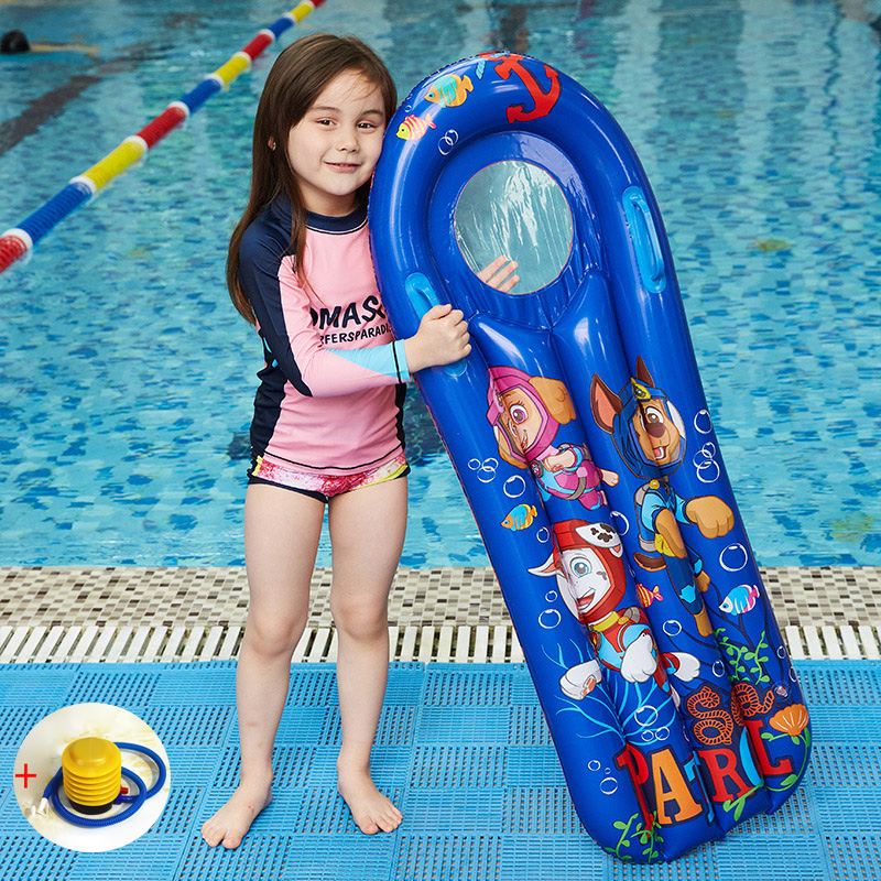 Beach Air Mattress Children Inflatable Floating Row With Handle Periscope Swimming Floating Sleeping Bed Water Sport 114cmx50cm