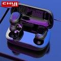 Беспроводные наушники CHYI с Bluetooth 5,0 TWS, водонепроницаемые, портативные, сабвуфер, стерео, спортивные, наушники-вкладыши, интеллектуальное шум...
