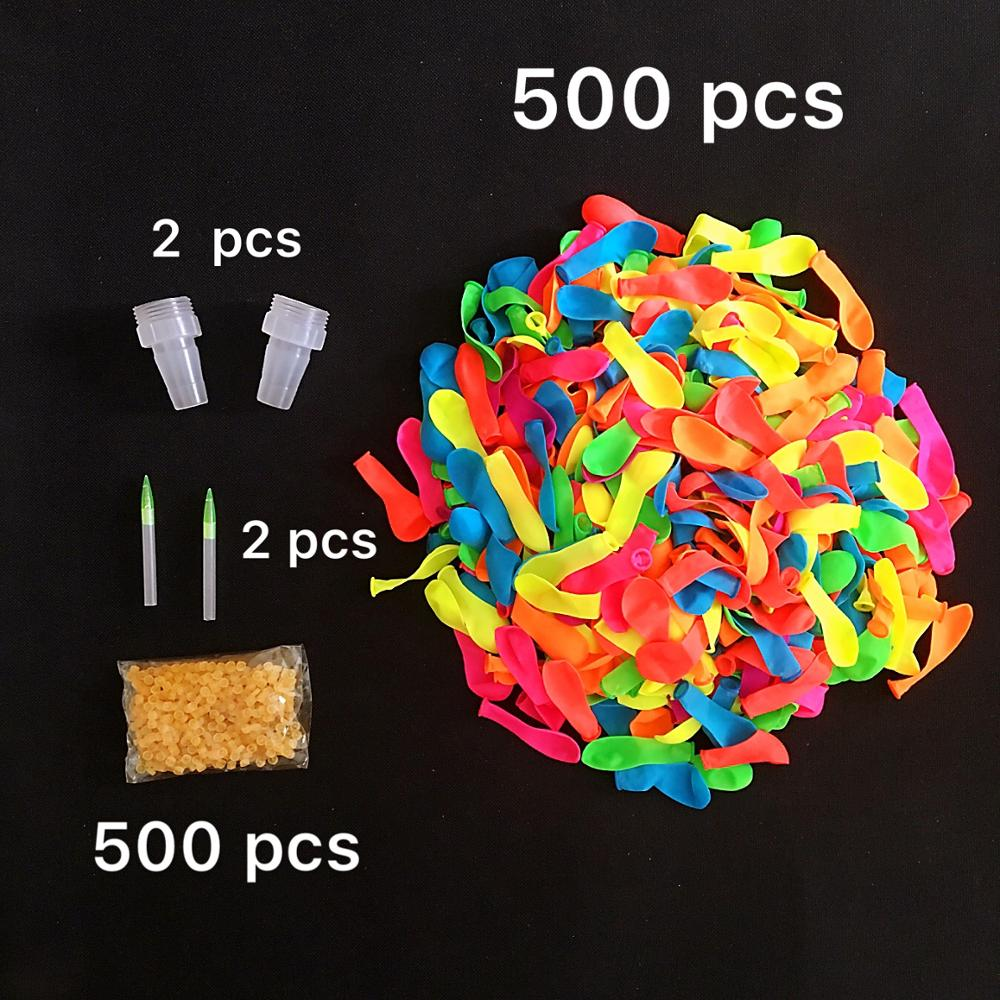 500pcs Water Balloons With Refill Easy Kit Latex Filling Water Bomb Ball Fight Games For Kids Adult Beach Toy With Fill