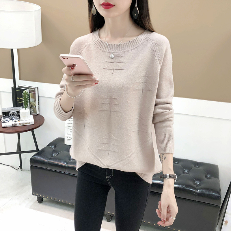 TIGENA Tree  Knitted Pullover Sweater Women 2019 Autumn Winter Korean Fashion Loose Long Sleeve Sweater Female Jumper Women Tops