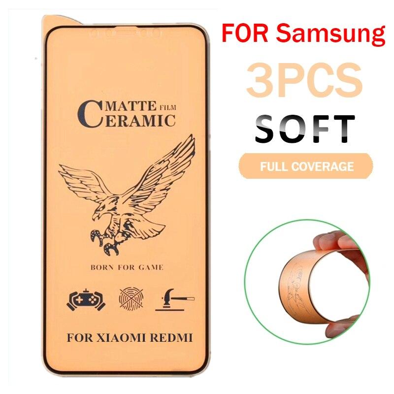 3 pçs matte macio cerâmica vidro protetor para samsung galaxy a50 a30 para samsung m10 m20 m30 a40 a70 a10 a 50 70 vidro temperado|Protetores de tela de telefone|   -
