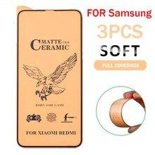3 pçs matte macio cerâmica vidro protetor para samsung galaxy a50 a30 para samsung m10 m20 m30 a40 a70 a10 a 50 70 vidro temperado