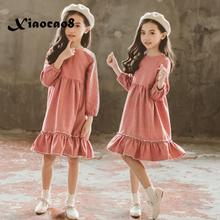 Kids long sleeve red striped princess dress girls cotton o neck dresses autumn clothing toddler girl dresses big girl clothes