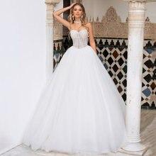 2021 бальное платье свадебное очаровательное без бретелек с