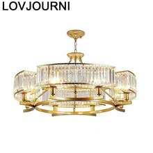 Chandelier Kitchen Nordic Candiles Modernos Loft Decor Fixtures Lampara Colgante Crystal Light Luminaria Hanging Lamp Hanglamp