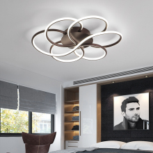 VeiHao Modern LED Chandelier For Living Room Bedroom AC85-265V Study Ceiling Chandelier Lustre luminaire Dimming Home lighting