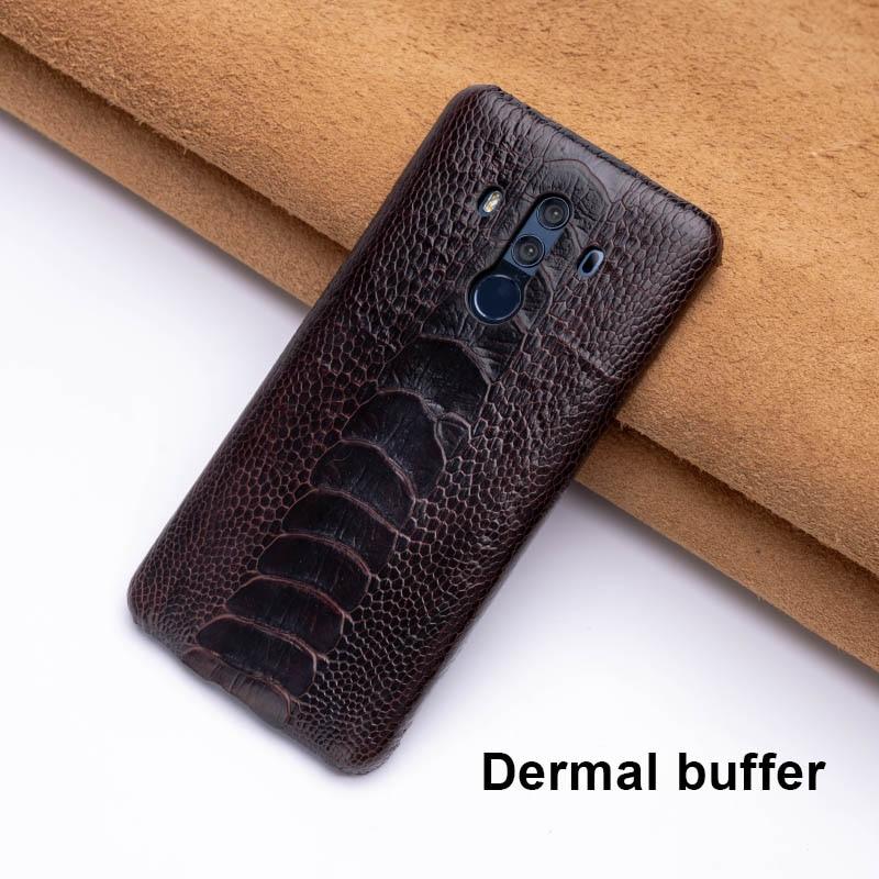 Чехол для телефона из страусиной кожи для huawei mate 20 10 9 Pro P10 P20 Lite, мягкий ТПУ чехол для Honor 8X Max 9 10 Nova 3 3i Capa