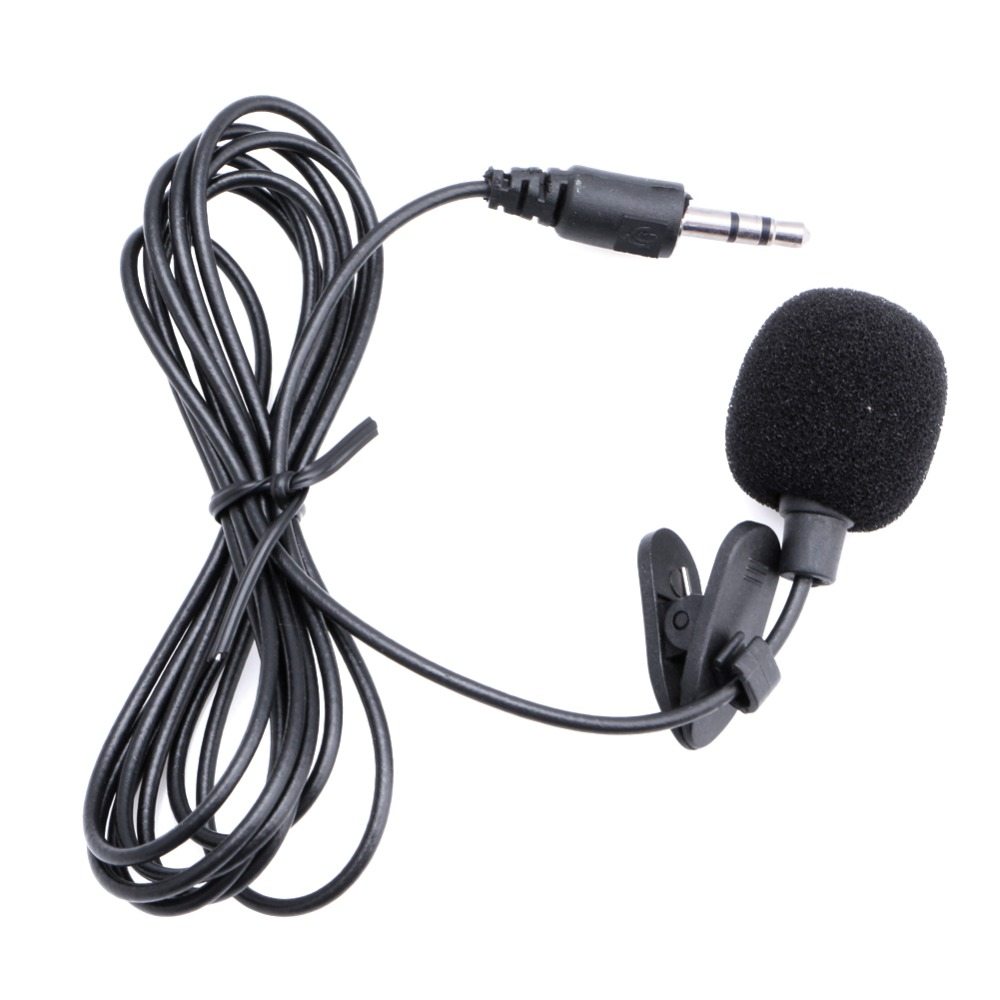 Common Mini Portable Microphone Condenser Clip-on Lapel Lavalier Mic Wired Mikrofo/Microfon For Phone For Laptop