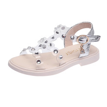 Fashion Summer Girls Beach Shoes Casual Sequined Crystal Pendant Soft S