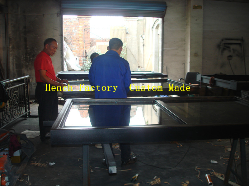 Shanghai Hench Brand China Factory 100% Custom Made Sale Australia Iron Double Entry Doors For Sale