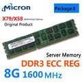 SAMSUNG 8G 4G DDR3 ECC REG 1333 1600 1866 2RX4 Hynix Micron serveur mémoire X79 RAM