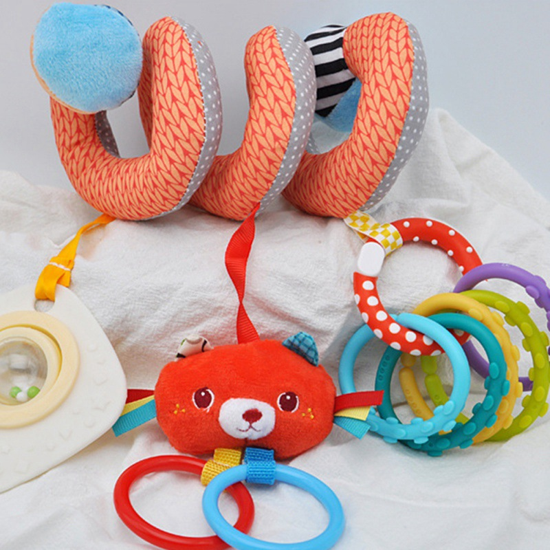 Baby Rattles Mobiles Educational Toys For Children Teether Toddlers Bed Bell Baby Playing Kids Stroller Hanging Dolls