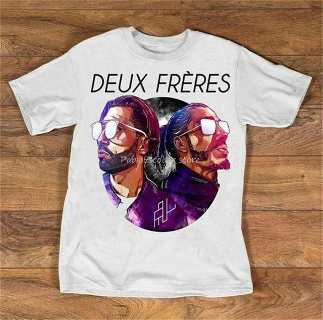 Deux Freres Pnl Cinematic Draw Style Men T-Shirt Cotton S-3Xl Harajuku Hip Hop Tee Shirt men brand tshirt summer top tees