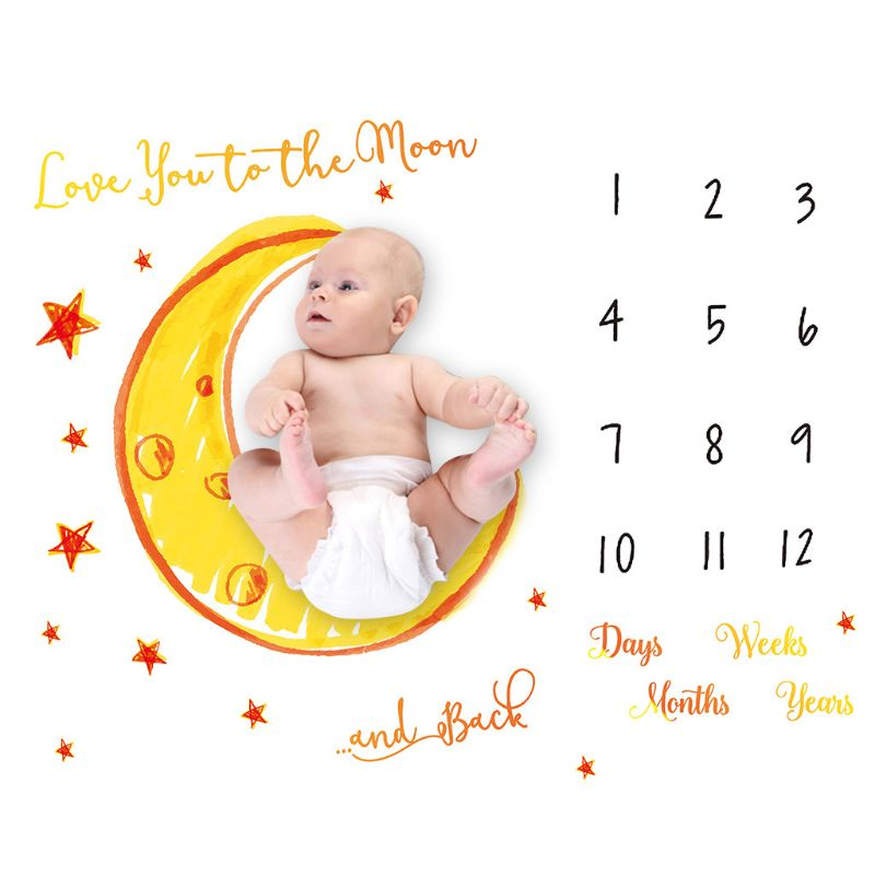 Baby Milestone Commemorative Blanket Newborn Photo Background Cloth Photo Props D08C