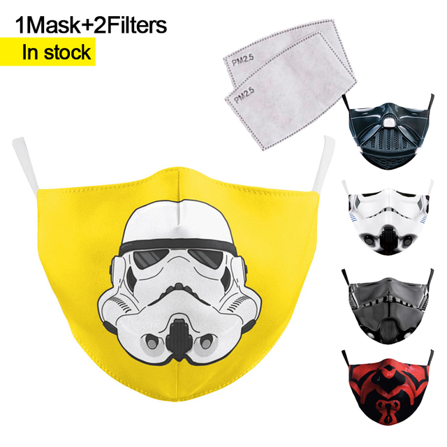 Mouth Mask Reusable Protective PM2.5 Filter Paper Mask anti dust Face mask bacteria proof Flu Mask