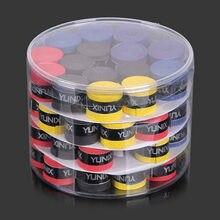 60 Pieces of Tennis Grip Badminton Racket Grips Wrapped with Sweat-absorbent Belt Non-slip 5 Colors Lavador Portatil De Tenis