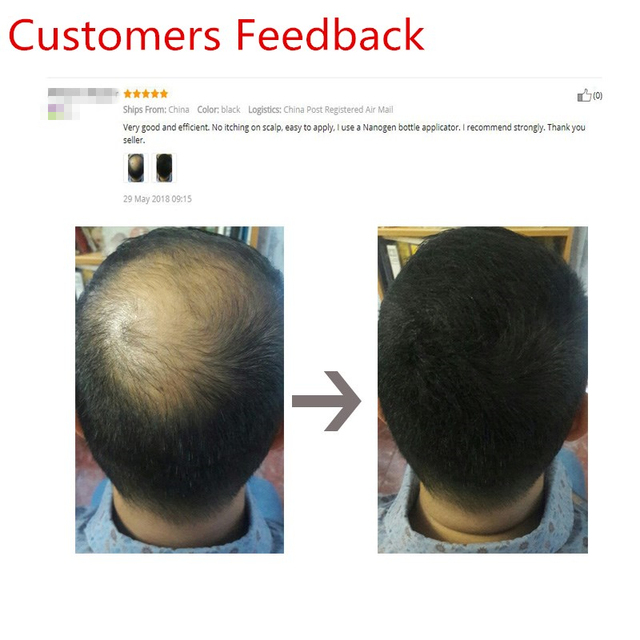 Keratin Hair Fiber Applicator Hair Building Fiber Spray Pump Styling Color Powder Extension Thinning Thickening Hair