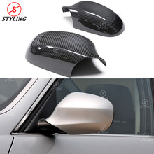 цена на Carbon Mirror Cover For BMW E90 E91 RearView Side mirror cover 328i 335i 320i 3 Series 2005 2006 2007 2008 2009 2010 2011 2012