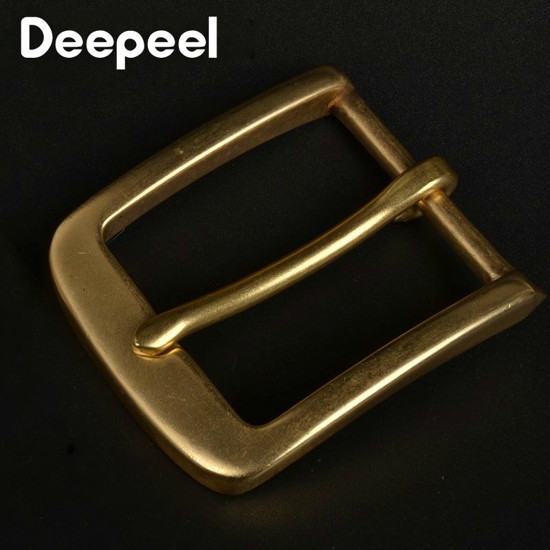Deepeel Solid Brass Metal Belt Buckle Men Women Pin Buckles Head For Belt 37-38mm DIY Leather Craft Jeans Accessories YK179