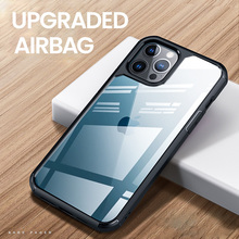 Lüks şeffaf darbeye dayanıklı silikon PC temizle telefon kılıfı için iPhone 12 11 Pro Max MINI X XS XR 7 8 arka kapak Fundas Coque